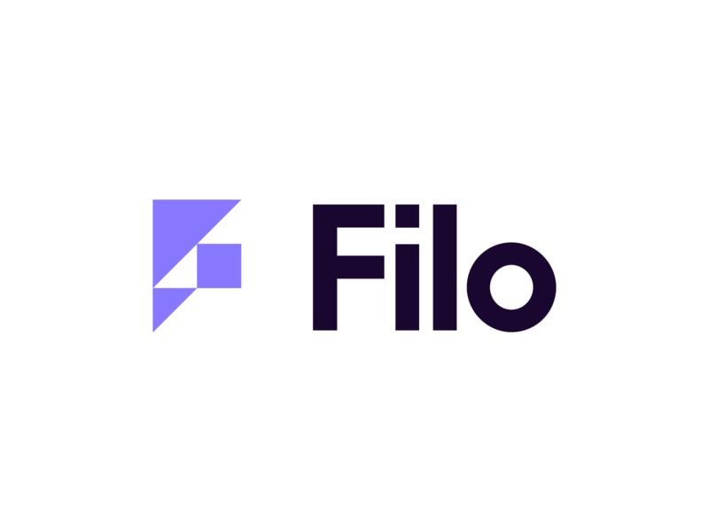 Filo Logo minimalist moderninst geometric identity brand branding icon design logo typography