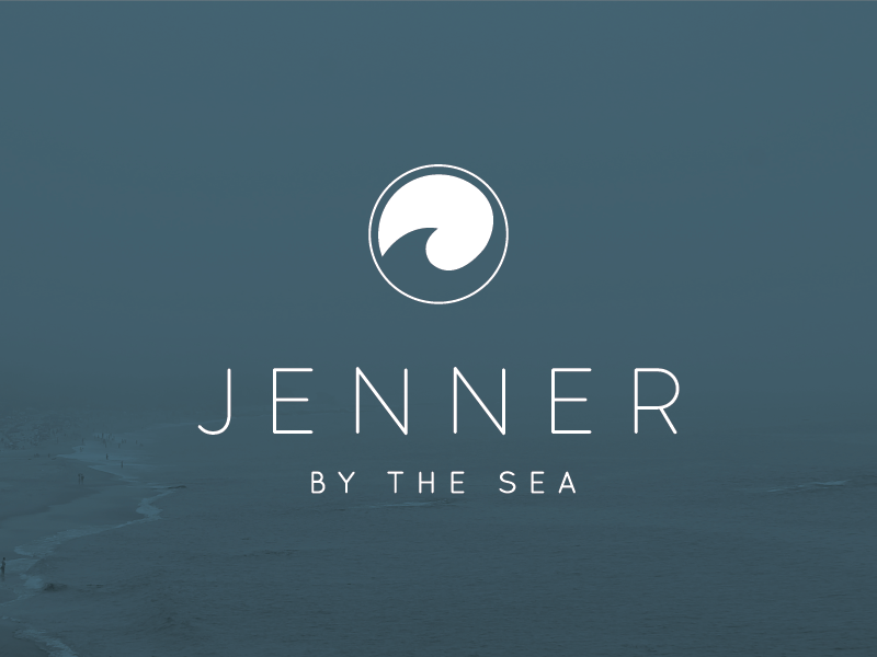 Jenner Logo logo design typography icon sea ocean hotel california