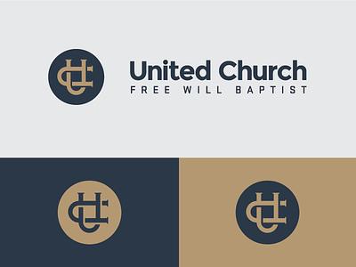 United Church Concept monogram lockup icon church design logo