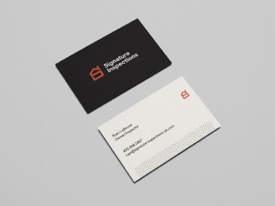 Signature Biz Cards typography design identity logo cards business