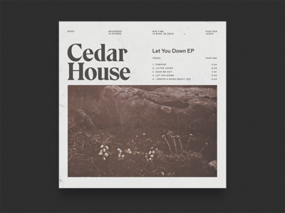 Cedar House Album Artwork