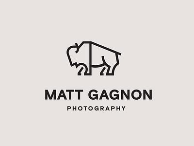 Bison Logo branding photography icon logo buffalo bison