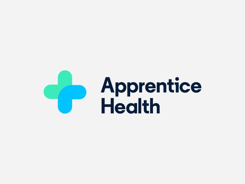 Apprentice Health Logo type identity brand icon typography healthcare design branding