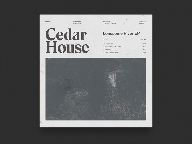 Lonesome River EP Artwork album art music oklahoma design typography