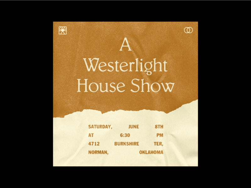 Westerlight Show Graphic concert music type oklahoma design texture typography