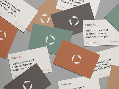 Chris Fox business cards business cards stationery oklahoma identity brand icon logo typography design