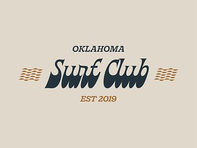 Oklahoma Surf Club surfing oklahoma branding design typography