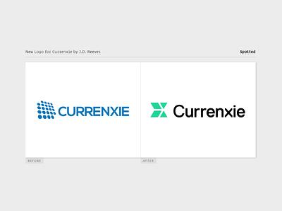 Currenxie Logo Spotted logo identity brand branding design