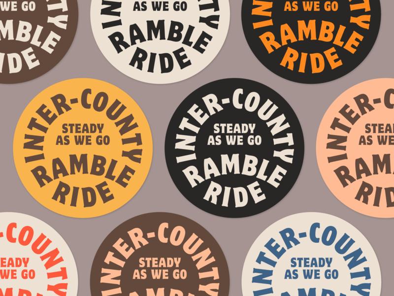 Inter-County Ramble Ride Badges