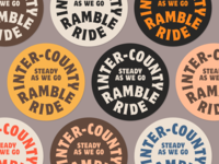 Inter-County Ramble Ride Badges