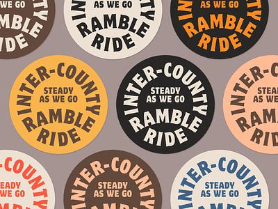 Inter-County Ramble Ride Badges badge ride bicycle logo branding typography