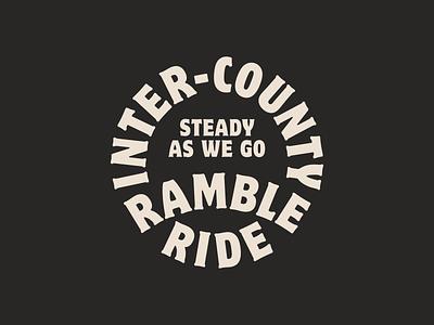 Inter-County Ramble Ride logo type oklahoma identity brand branding typography