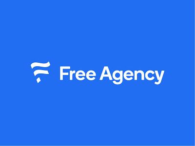 Free Agency Logo tech type identity brand branding design logo