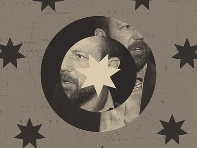 Editorial Illustration for High Country News editorial design congress flag star politics oklahoma collage cherokee editorial design