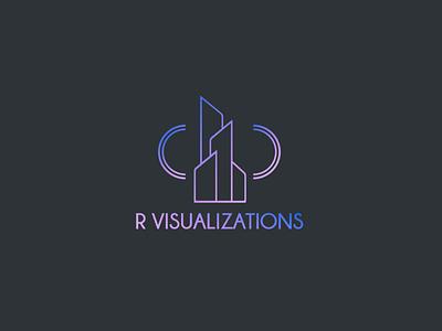 R Visualisations dégradé réalité architecture design art graphisme freelance logo concours