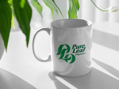 Pure Leaf Organics logo elegant