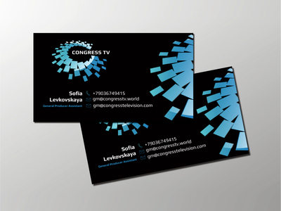 Logo and corporate identity for the TV channel identity corporate business card universe logotype brandbook design business branding brand logo