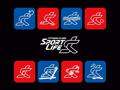 Fitness clubs network rebranding concept athlete gym club idea logotype brandbook design business branding brand logo