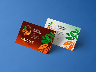 Business cards for WeHeat develop logotype brandbook design business branding brand logo