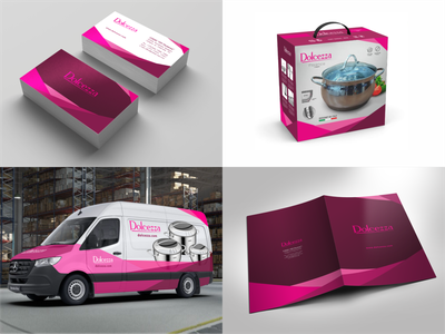 Corporate identity for a stainless steel cookware manufacturer. minibus branding brandbook design business branding