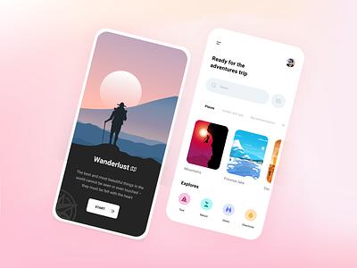 Explore App ui ux logo illustration icon design vector app typography