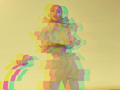 Summer Vibes Glitch glitch female yellow photo composition photoshop photo manipulation photography design canva