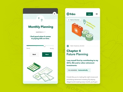 Investment & Planning Literacy - Mobile Web App animation illustration product design finance mobile uiux