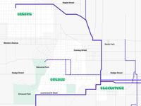 Interactive map - streetcar Omaha