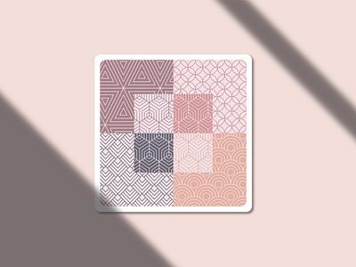 Geometric patern on a frame minimal geometric art frame illustration graphic design illustrator flat dribbbleweeklywarmup vector design