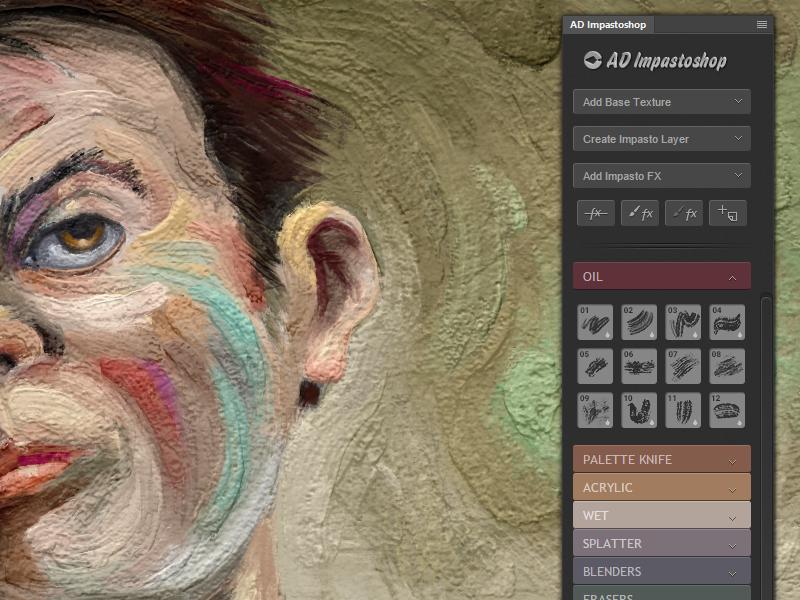 Impastoshop - Photoshop Thick Paint Panel by Alex Dukal on Dribbble