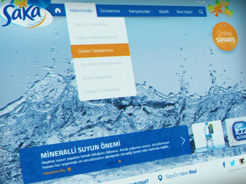 Saka Su Website website parallax responsive spring water still life interface ui design art ux