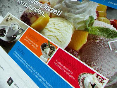 Ulker Golf Ice Cream Website ux ui interface design art still life responsive website icecream food creamery