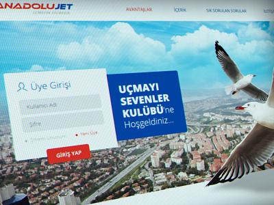 Anadolu JET Club Website ui ux responsive airlines website interface