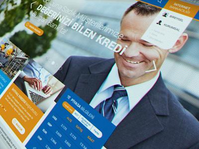Burgan Bank Website ui ux responsive banking website interface