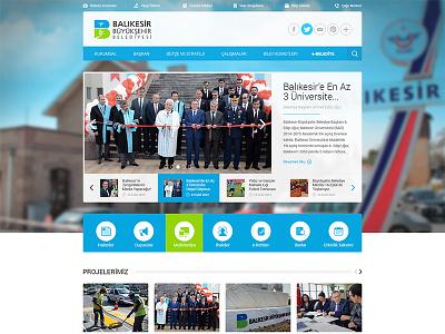 Balikesir Municipality Website interface ui government municipality website responsive still life ux