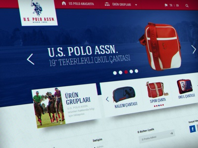 U.S. Polo Product Site ux ui interface design art still life responsive website shopping