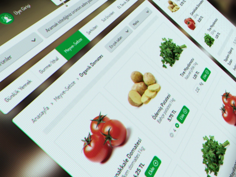 Pekdemir E-Commerce Website corporate food website responsive still life art design interface ui ux