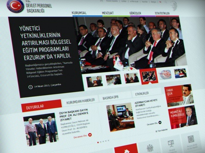 Devlet Personel Başkanlığı Website ux ui interface design art still life responsive website municipality government