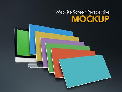 Perspective Screen Mockup psd download mockup website freebies