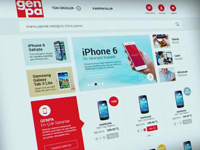 GENPA e-commerce web design mobile responsive flat web e-commerce