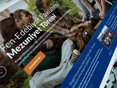 Bingol Universitesi Web Design fullwidth flat web corporate university education