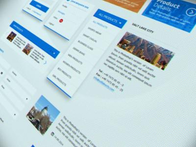 LifeStyle UI Kit guideline psd free flat interface ux website download kit ui