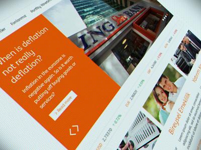 ING BANK Portföy Yönetimi ReDesign banking ingbank flat finance ui ux web