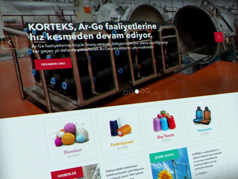 Korteks Web Design fabric flat web ux ui