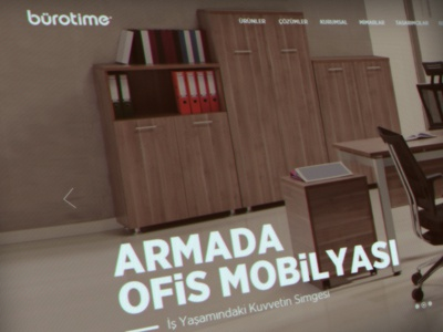 Bürotime Web Design flat office home interior furniture responsive web