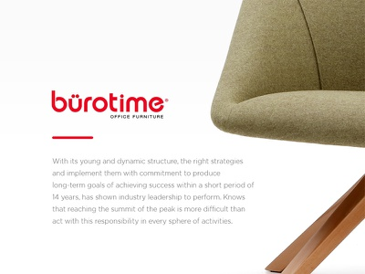 Bürotime Casestudy flat office home interior furniture responsive web