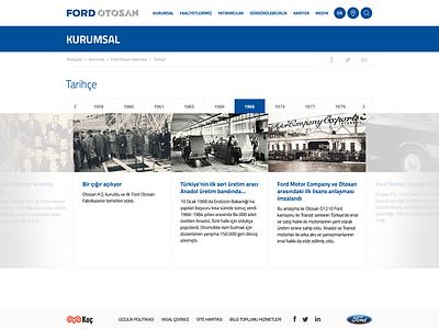 Ford Otosan Web Design auto ux ui retail presentation flat corporate art direction