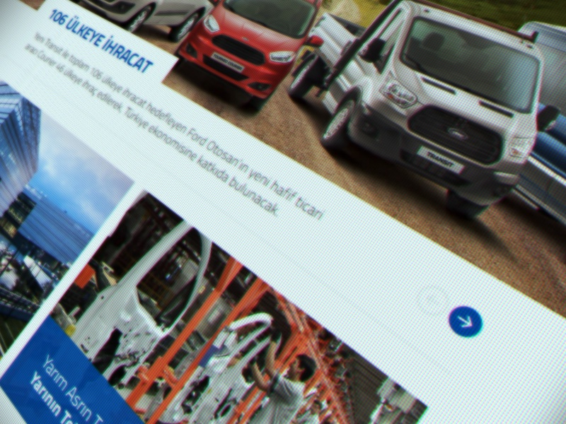 Ford Otosan Web Design auto ux ui retail presentation flat corporate art direction