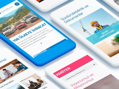 Ford Otosan Website Casestudy corporate flat ux ui automotive responsive