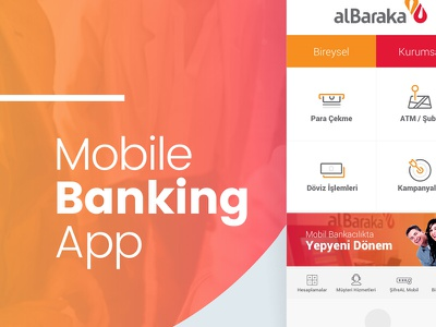Albaraka - Mobile Banking App ReDesign art direction ux ui casestudy app finance banking mobile